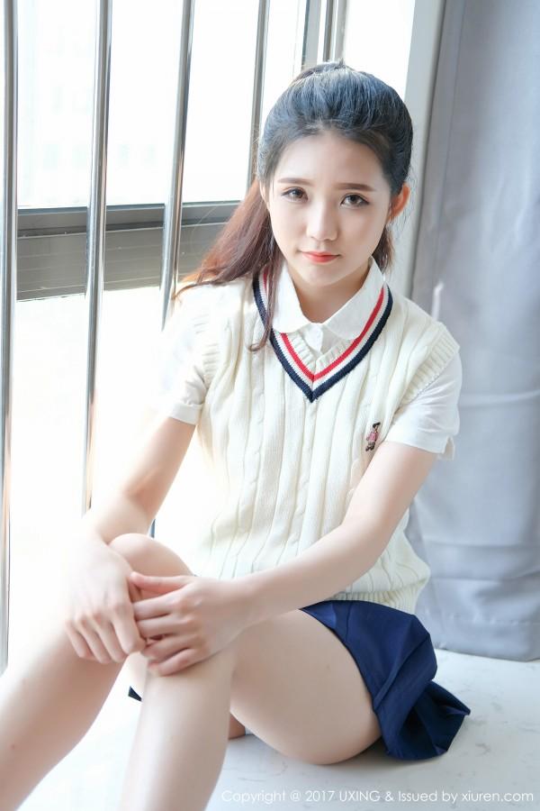 UXING 优星馆 Vol.056 可爱的小叶子清纯制服少女写真!